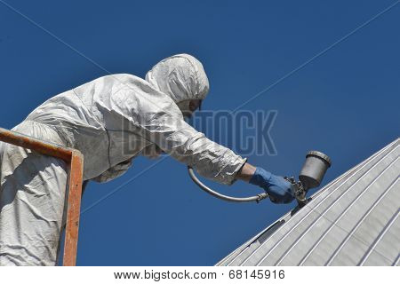 Spraying The Roof