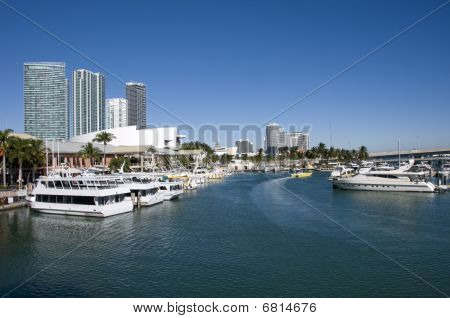 Elevated View Of Miami Dock