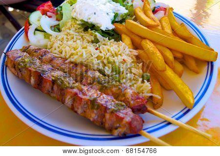 Souvlaki food greece