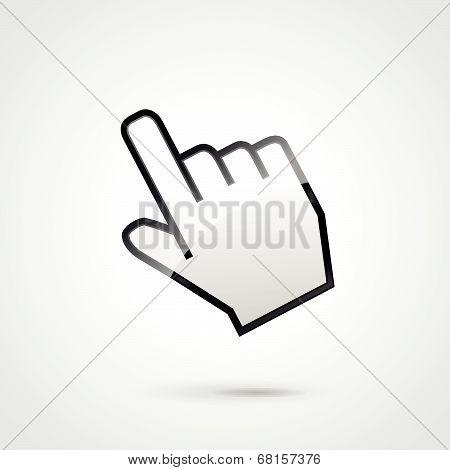 Vector Hand Clic Illustration
