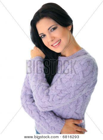 Happy Model Posing