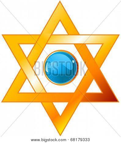 Illustration of star of David (Magen David)