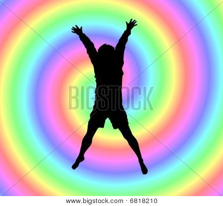 Happiness in the rainbow.