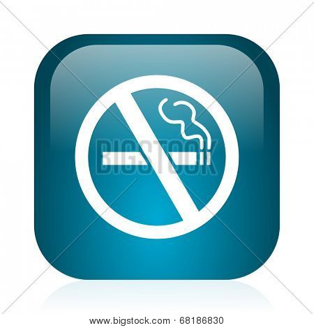 no smoking blue glossy internet icon