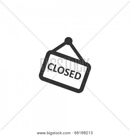 Closed sign icon