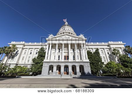 California state capitol building in downtown Sacramento.