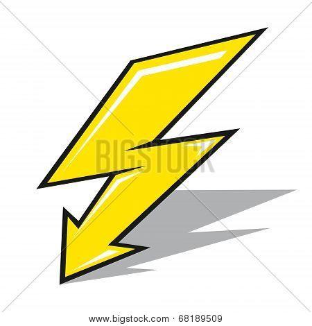 Vector lightning sign