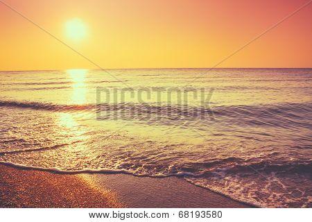 Sand Beach And Wave