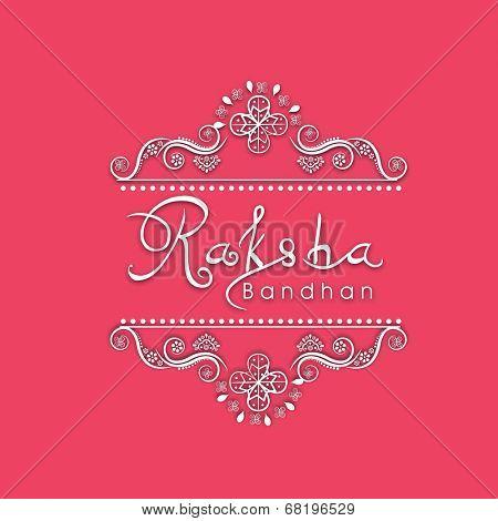 Raksha Bandhan celebration greeting card design with beautiful floral design and stylish text.
