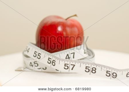 Dieter's Tools, Red Healthy Apple with Measuring Tape