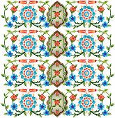 series of patterns designed by taking advantage of the former Ottoman poster