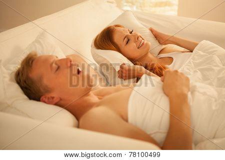 Snoring Man at night
