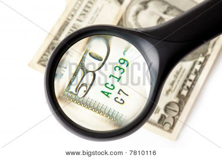Magnifier And Money