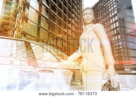 Businessman Opening The Door Of A Car In The City