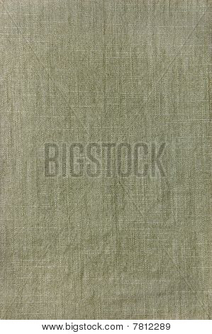 Dark Khaki Cotton Texture Closeup