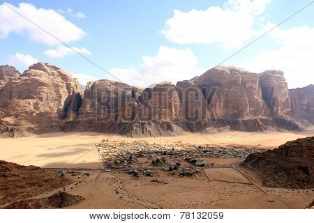 Beautiful view of the wadi rum in Jordan.