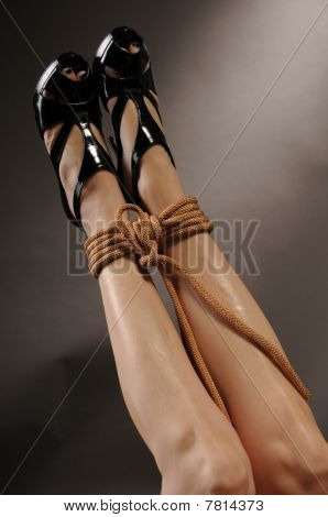 Sexy Legs with Rope Bondage