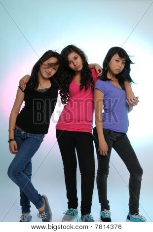 Teen Girls with Attitude