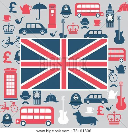 Set Of Great Britain Symbols