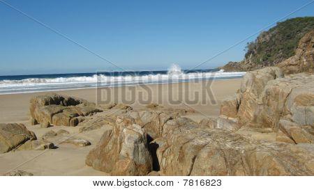 Volcanic Rocks at Little Bay Beach.