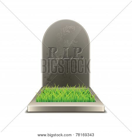 Grave Isolated On White Vector