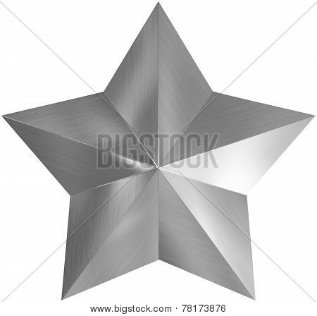 Christmas Star Metal 3D Isolated