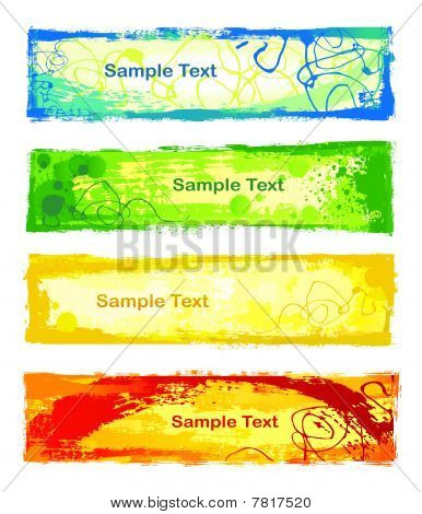 Colorful banners
