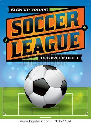Soccer League Flyer Illustration