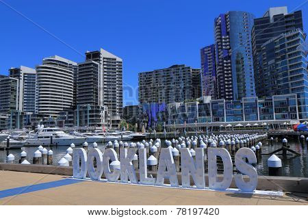Docklands cityscape Melbourne