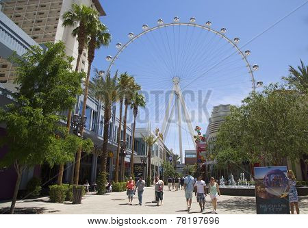 Las Vegas newest attraction The High Roller Ferris Wheel stands tall 550-foot
