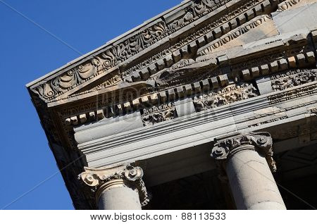 Decoration Of Ancient Garni Temple Roof,dedicated To Sun God Mithra - Classical Hellenistic Building