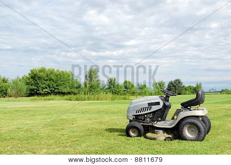 lawn with lawn mower