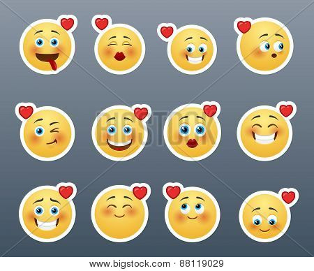 Smileys With Hearts