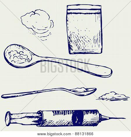 Drug syringe