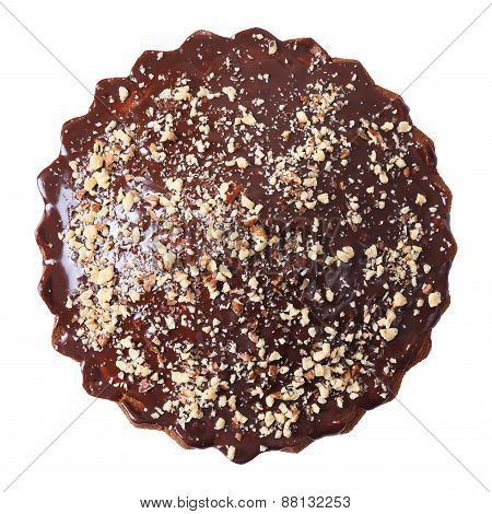 Top View Of Glazed And Sprinkled Pie