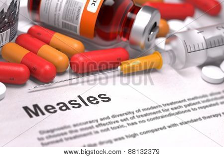 Diagnisis - Measles. Medical Concept.