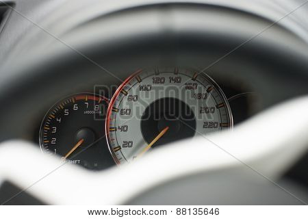 Car Dashboard With Instruments