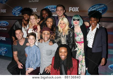 LOS ANGELES - MAR 11:  American Idol XIV Finalists at the