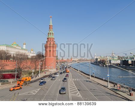 Kremlin Embankment In Moscow