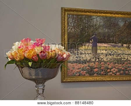 Floral Arrangement And Painting At Bouquets To Art 2015 Exhibition