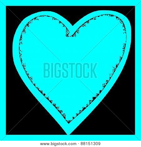 Turquoise Heart Illustration 1