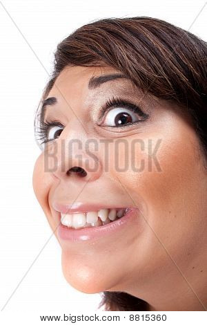 Crazy Girl Smiling