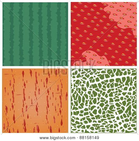 Fruit Texture Vector Set