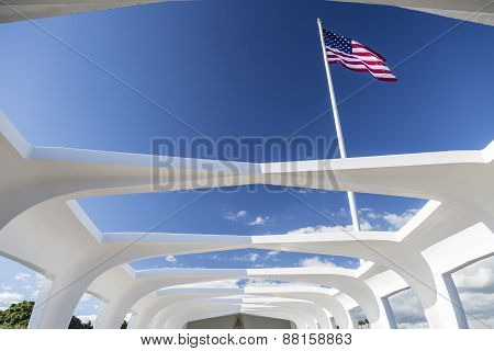 Uss Arizona Structure And Flag