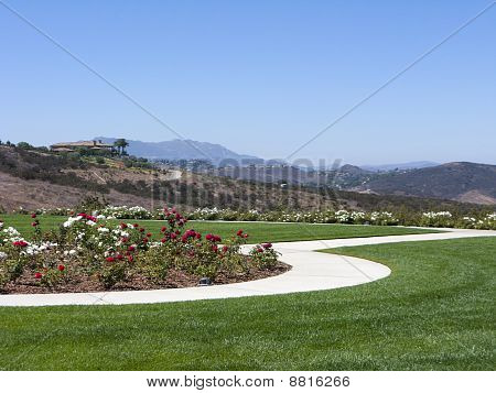 Simi Valley as seen from Ronal Regan Memorial Library and Museum California poster