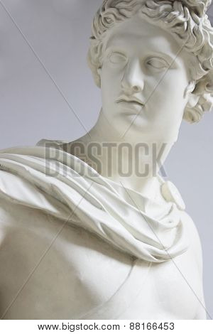 Apollo Phoebus son of Zeus and Leto brother of Artemis the father of Orpheus Lika Asclepius and Miletus. One of the Olympian gods. God guard family