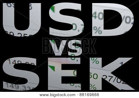 US dollar versus Swedish krona