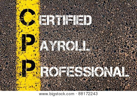 Business Acronym Cpp - Certified Payroll Professional