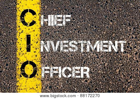 Business Acronym CIO as Chief Investment Officer poster