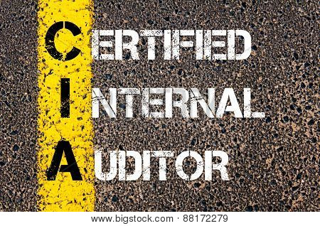 Business Acronym Cia - Certified Internal Auditor